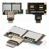 Шлейф для HTC Desire VC T328d с разъемом SIM-карты и карты памяти