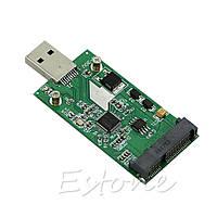 Адаптер  переходник Для жесткого диска USB 3.0 на mSATA ,USB 3.0 to mSATA External SSD