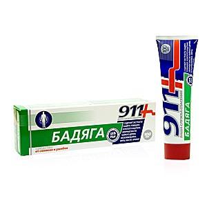 Твинс Тэк, Россия 911 Бадяга гель/тела 100мл от синяков и ушибов ...