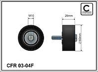 Ролик генератора паразитный Peugeot Partner 1.9D 98- Caffaro 03-04F