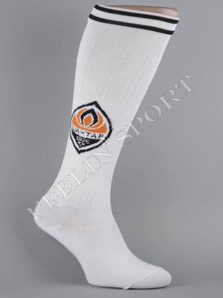 Гетры футбольные ФК Шахтер (FC Shakhtarl) Белые, фото 1