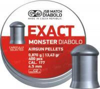 Пули пневм JSB Monster 4,52 мм 0,87 гр. (400 шт/уп)