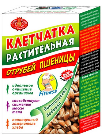Клетчатка растительная из отрубей пшеницы Агросельпром 190 г (4820043012633)