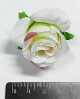 """Цветы декоративные """"Роза белая с розовым"""""""