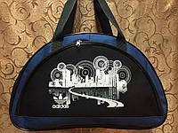 Спортивная сумка для фитнеса Adidas, Адидас черная с синим