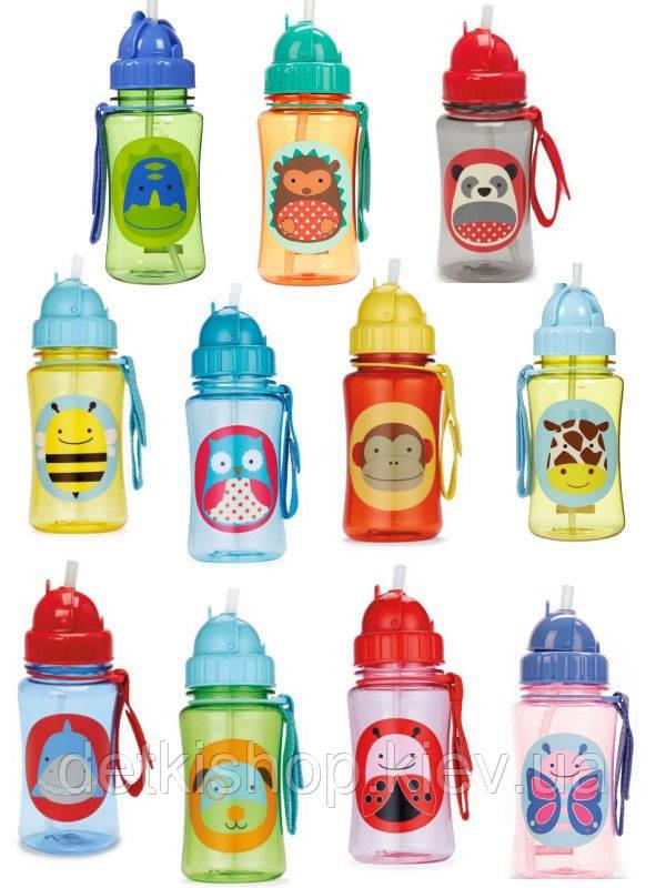 Поильник Skip Hop Zoo Straw Bottle