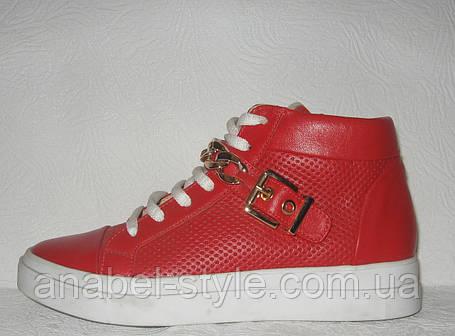 Ботинки-кеды женские кожаные весна-осень Код 100.к, фото 2