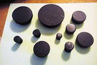 Заглушка круглая черная диаметр 114 мм