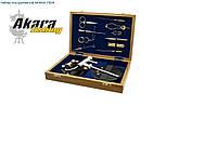 Набор нахлыстовых инструментов в деревянной коробке AKARA7304
