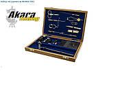 Набор нахлыстовых инструментов в деревянной коробке AKARA 7301