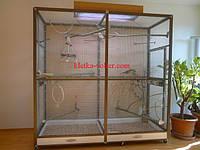 Клетка для попугаев в частный дом. Размер 1,8 х 0,8 х 1,8 м.