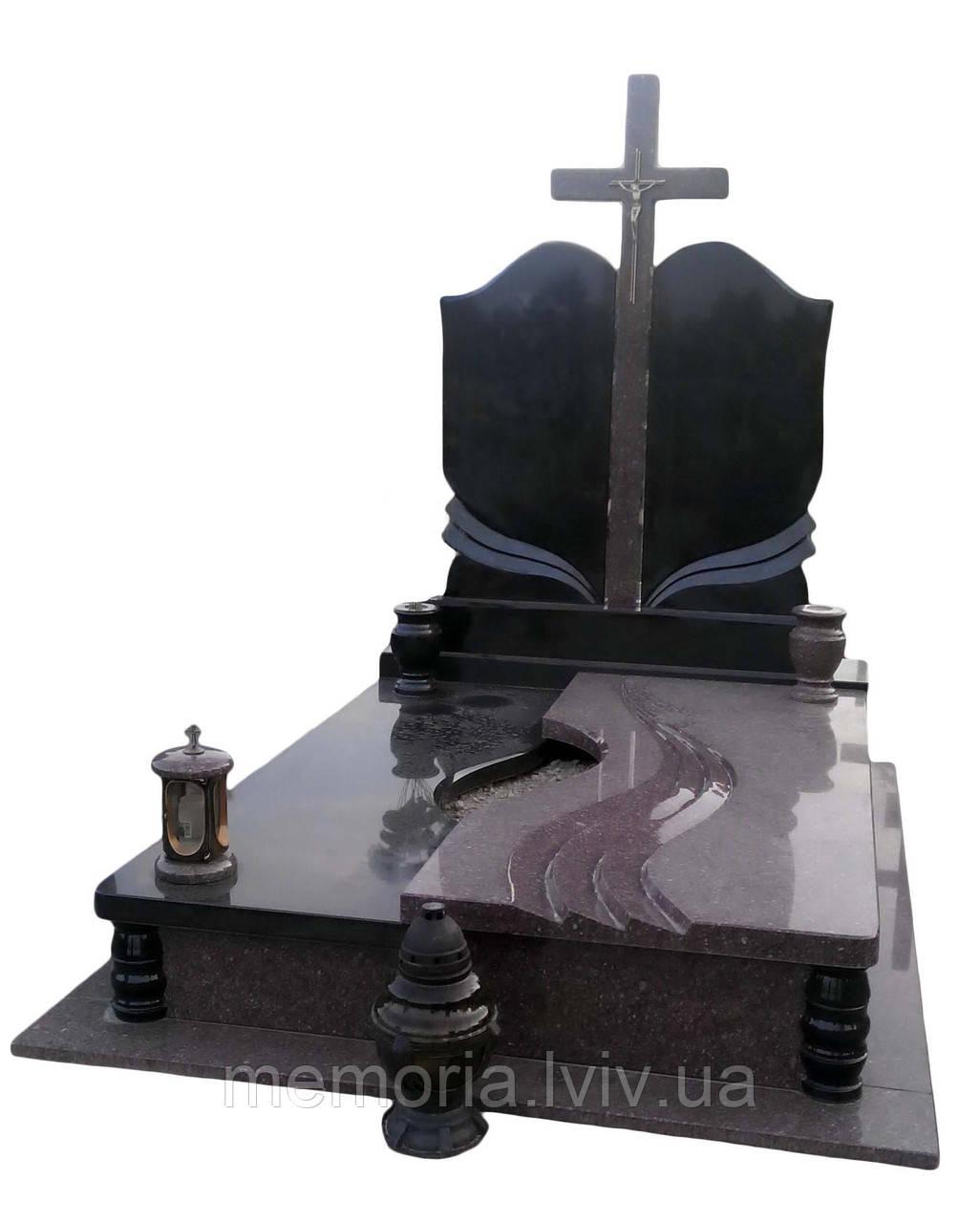 Гранітний пам'ятник подвійний 2104