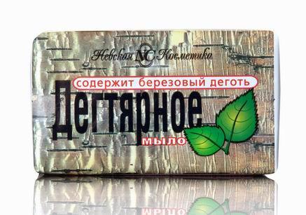Мыло туалетное твердое Невская косметика Дегтярное 100 г (4600697101934)