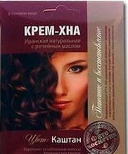 Краска для волос Каштан Фармаком  КРЕМ-ХНА с репейным маслом 50 мл (4820190620415)