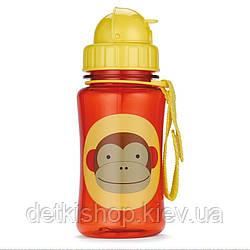 Поильник Skip Hop Zoo Straw Bottle От 12-ти месяцев, 18, 7, Полипропилен (без содержания бисфенола-А), Обезьянка, Да, 350, Skip Hop, Бутылочка