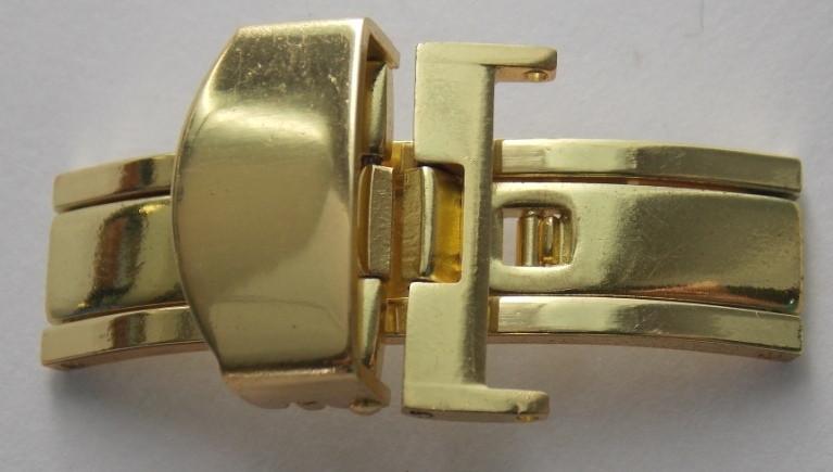 Клипса к ремешку G16-18 мм золото желтое
