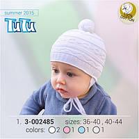 Вязаная детcкая шапка TuTu арт. 3-002485 36-40