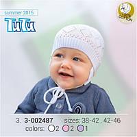 Шапка для девочки TuTu арт. 3-002487 фиолетовый, 38-42