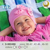 Стильная шапка для девочки TuTu арт. 3-002490