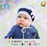 Стильная шапка для девочки TuTu арт. 3-002513 белый, 40-44