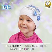 Шапка для девочки TuTu арт. 3-002497