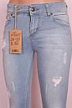 Женские турецкие голубые джинсы с дырками, фото 3