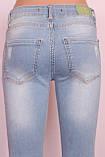 Женские турецкие голубые джинсы с дырками, фото 4