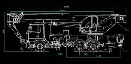 Автокран КЛИНЦЫ КС-65719-6К-1 на шасси МАЗ-6312В3, фото 2