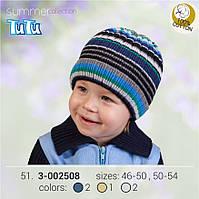 Шапка для мальчика TuTu арт. 3-002508 коричневый, 46-50
