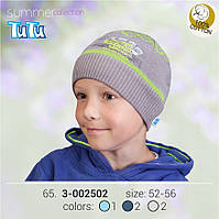Шапка для мальчика арт. 3-002502 синий, 52-56