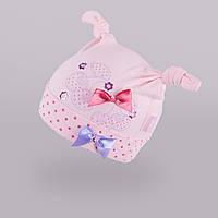 Шапка из тонкого трикотажа для девочки из новой коллекции TuTu арт. 3-002269