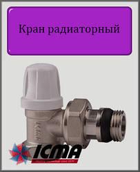 """Мікрометричний нижній вентиль 1/2"""" ICMA кутовий"""