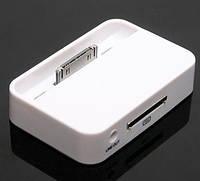 Док станция белая для iPhone 4G 4S, подставка, зарядка