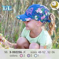 Модная джинсовая бейсболка для девочки TuTu арт.98.3-002256