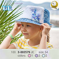 Стильная джинсовая шляпа из новой коллекции TuTu , для девочки (размер: 54 ) арт. 3-002579