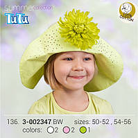 "Панама-шляпка для девочки в стиле ""ретро"" арт. 3-002347"