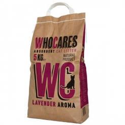 WC ВІСІ ЛАВАНДА (WhoCares Lavander) всмоктуючий наповнювач в котячий туалет з запахом лаванди 5кг