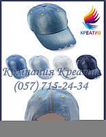 Джинсовые кепки, бейсболки с вашим логотипом (под заказ от 50 шт)
