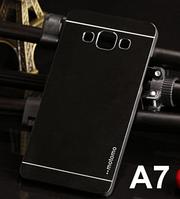 Металлический черный чехол Motomo для Samsung Galaxy A7