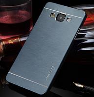 Металлический Синий чехол Motomo для Samsung Galaxy A7, фото 1