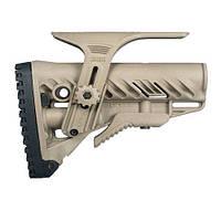 Приклад FAB Defense для М16/AR15 с регул. щекой ц:desert tan (coyote tan)
