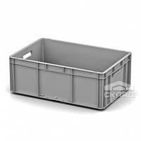 Евроконтейнер пластиковый EC-6422.1 600x400x220 мм Сплошное дно