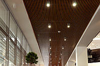 Кубообразные реечные потолки монтаж