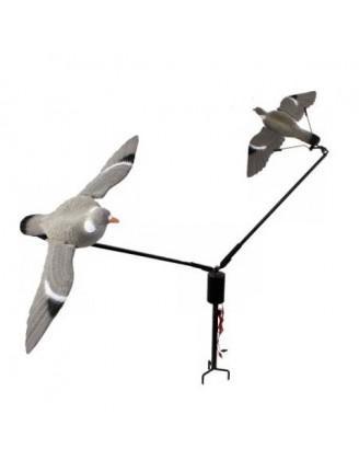 Уст-во карусельного типа Hunting Birdland на 2 приманки-голубя, комплект: батареи, кабель 15 метров, 5-ти скор - Магазин «СТРЕЛОК» в Днепре