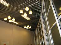 Реечный потолок с кубообразным дизайном (монтаж)