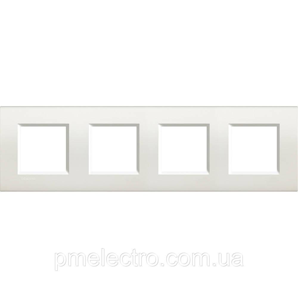 LivingLight Рамка прямоугольная, 4 поста, цвет Белый