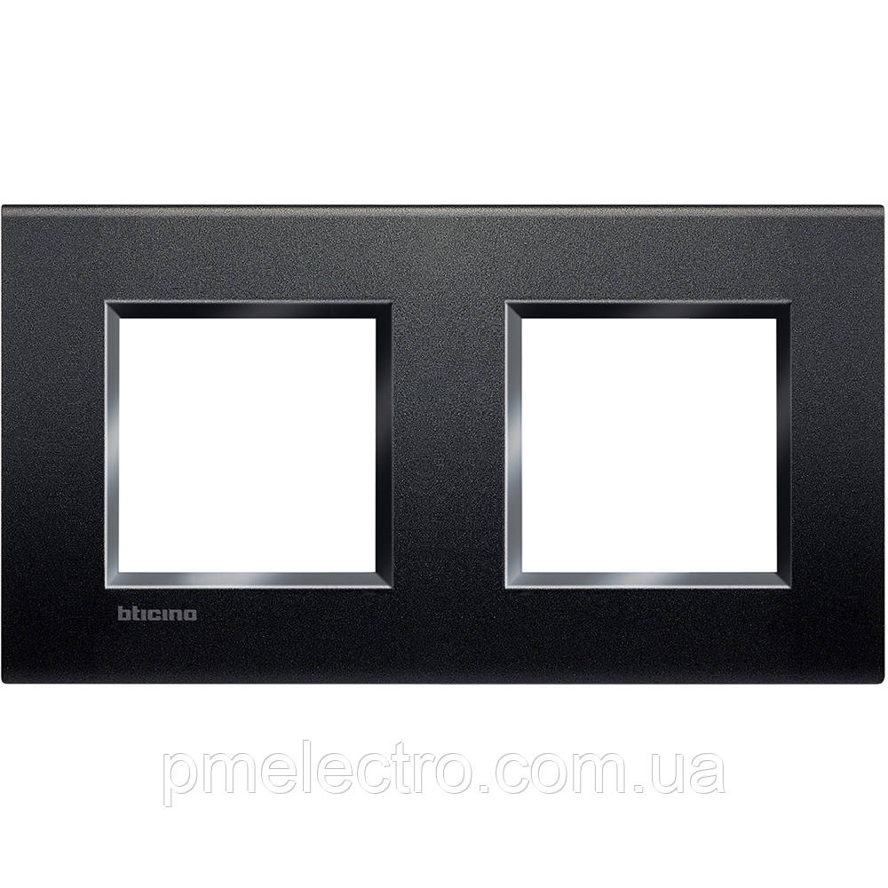 LivingLight Рамка прямоугольная, 2 поста, цвет Антрацит