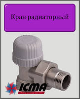 """Кран радиаторный Тэрмо 1/2"""" ICMA угловой"""