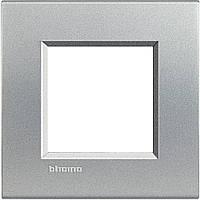 LivingLight Рамка прямоугольная, 1 пост, цвет Алюминий