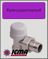 """Угловой термостатический вентиль1/2"""" ICMA"""